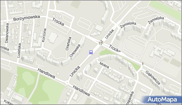 Przystanek Metro Trocka 03. ZTM Warszawa - Warszawa (id 114003) na mapie Targeo