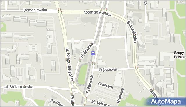 Przystanek Metro Wilanowska 06. ZTM Warszawa - Warszawa (id 300906) na mapie Targeo