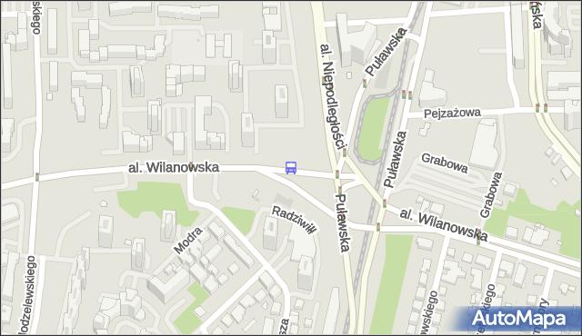 Przystanek Metro Wilanowska 08. ZTM Warszawa - Warszawa (id 300908) na mapie Targeo