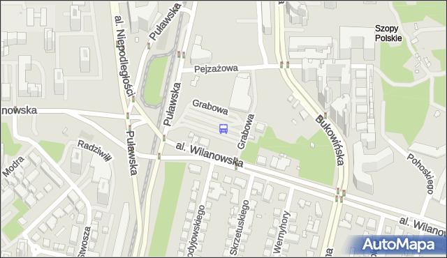 Przystanek Metro Wilanowska 15. ZTM Warszawa - Warszawa (id 300915) na mapie Targeo