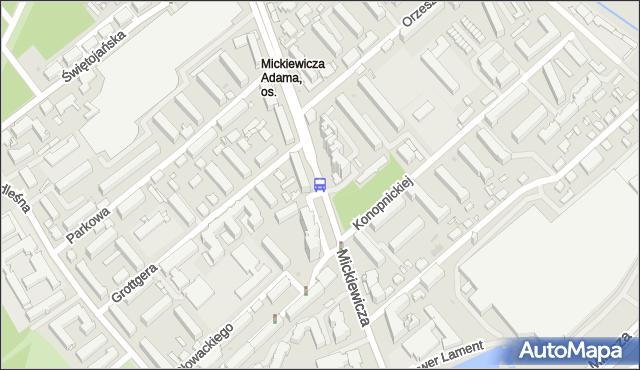 Przystanek MICKIEWICZA/GROTTGERA. BKM - Białystok (id 237) na mapie Targeo