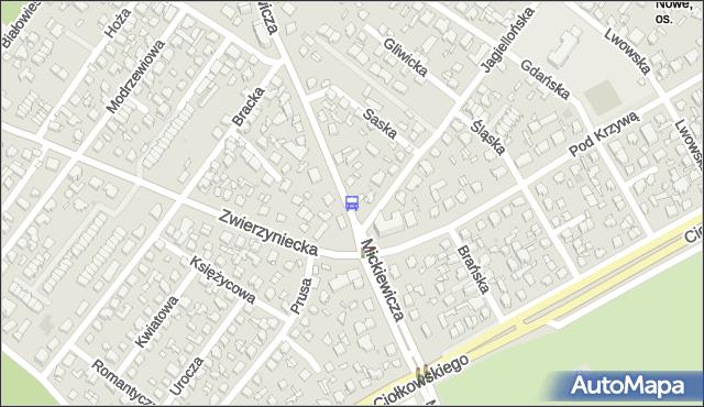 Przystanek MICKIEWICZA/JAGIELLOŃSKA. BKM - Białystok (id 242) na mapie Targeo