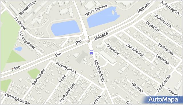 Przystanek Mickiewicza/Kościół Św. Ojca Pio. BKM - Białystok (id 238) na mapie Targeo