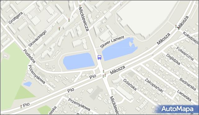 Przystanek MICKIEWICZA/MIŁOSZA. BKM - Białystok (id 243) na mapie Targeo