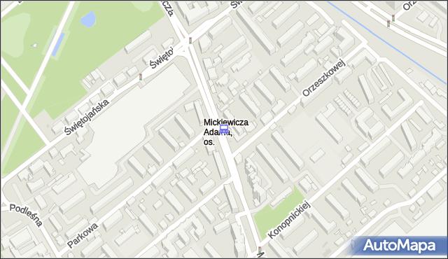 Przystanek Mickiewicza/Orzeszkowej. BKM - Białystok (id 244) na mapie Targeo