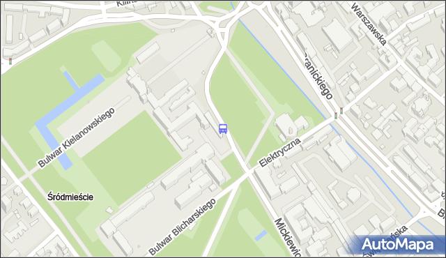 Przystanek Mickiewicza/Uniwersytet Medyczny. BKM - Białystok (id 236) na mapie Targeo