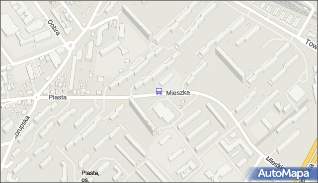 Przystanek Mieszka I/Szkoła. BKM - Białystok (id 252) na mapie Targeo