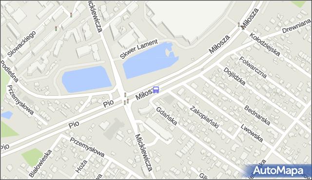 Przystanek Miłosza/Drewniana. BKM - Białystok (id 285) na mapie Targeo