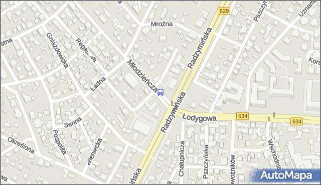 Przystanek Młodzieńcza 02. ZTM Warszawa - Warszawa (id 106002) na mapie Targeo