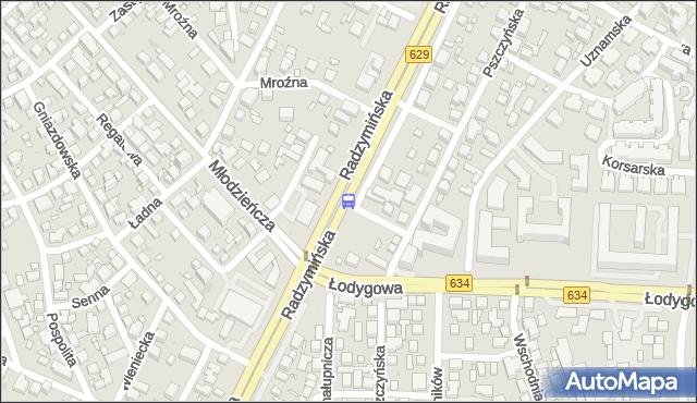 Przystanek Młodzieńcza 04. ZTM Warszawa - Warszawa (id 106004) na mapie Targeo