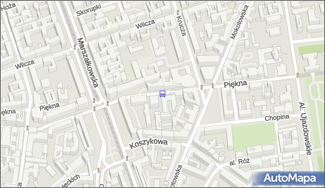 Przystanek Mokotowska 01. ZTM Warszawa - Warszawa (id 703501) na mapie Targeo