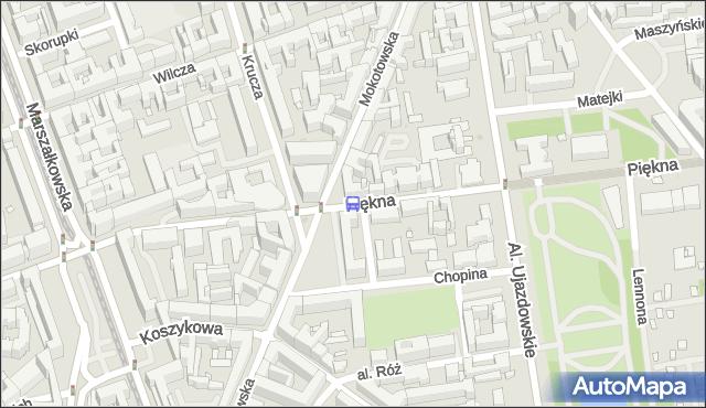 Przystanek Mokotowska 02. ZTM Warszawa - Warszawa (id 703502) na mapie Targeo