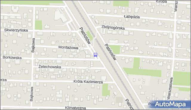 Przystanek Montażowa 01. ZTM Warszawa - Warszawa (id 204101) na mapie Targeo