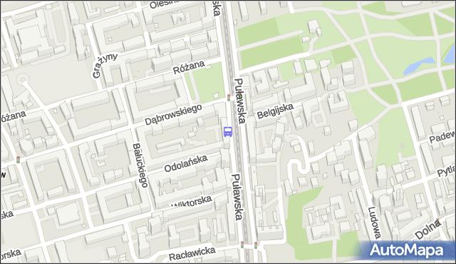 Przystanek Morskie Oko 01. ZTM Warszawa - Warszawa (id 300401) na mapie Targeo