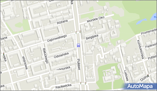 Przystanek Morskie Oko 03. ZTM Warszawa - Warszawa (id 300403) na mapie Targeo