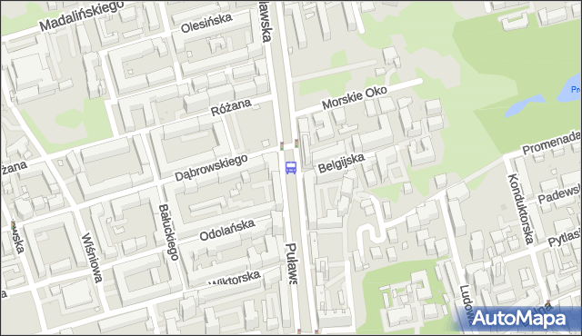 Przystanek Morskie Oko 04. ZTM Warszawa - Warszawa (id 300404) na mapie Targeo