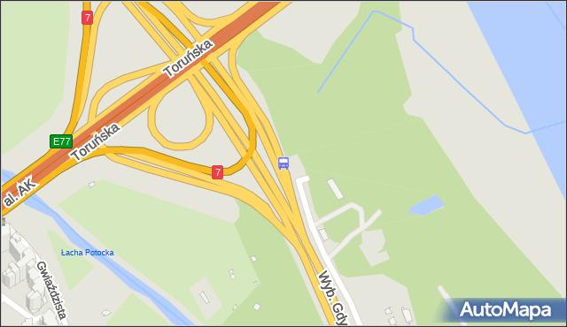 Przystanek most Grota-Roweckiego 02. ZTM Warszawa - Warszawa (id 608302) na mapie Targeo