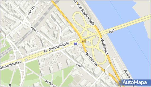 Przystanek most Poniatowskiego 01. ZTM Warszawa - Warszawa (id 700301) na mapie Targeo