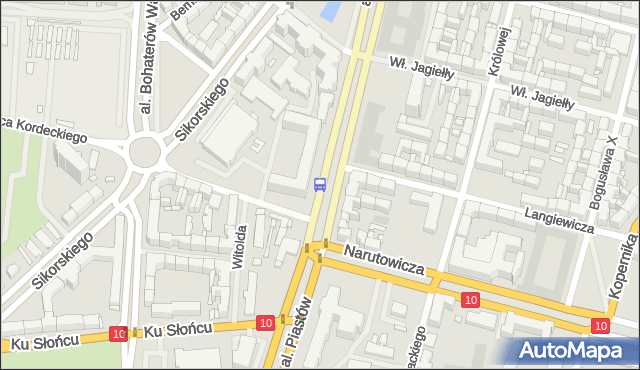 Przystanek Narutowicza 11. ZDiTM Szczecin - Szczecin (id 21011) na mapie Targeo