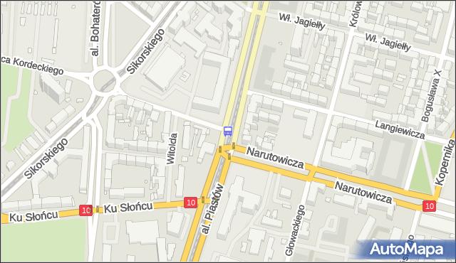 Przystanek Narutowicza 12. ZDiTM Szczecin - Szczecin (id 21012) na mapie Targeo