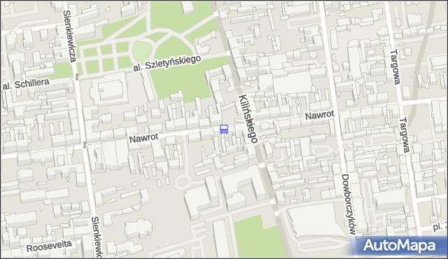Przystanek Nawrot - Kilińskiego. MPKLodz - Łódź (id 606) na mapie Targeo