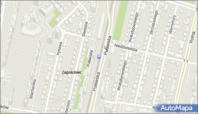Przystanek Niedźwiedzia 03. ZTM Warszawa - Warszawa (id 301003) na mapie Targeo