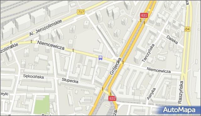 Przystanek Niemcewicza 01. ZTM Warszawa - Warszawa (id 414001) na mapie Targeo