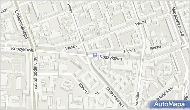 Przystanek Noakowskiego 02. ZTM Warszawa - Warszawa (id 700402) na mapie Targeo