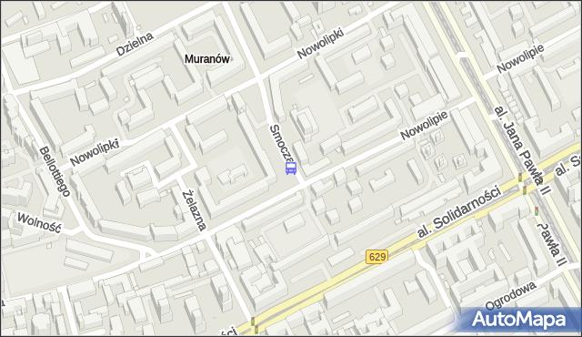 Przystanek Nowolipie 01. ZTM Warszawa - Warszawa (id 515401) na mapie Targeo