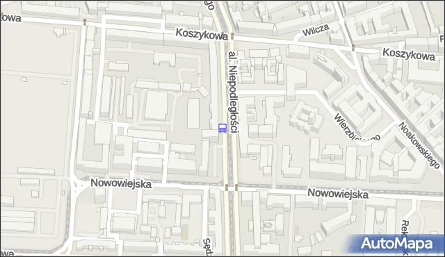 Przystanek Nowowiejska 01. ZTM Warszawa - Warszawa (id 709001) na mapie Targeo
