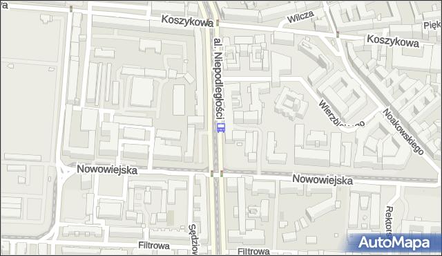 Przystanek Nowowiejska 02. ZTM Warszawa - Warszawa (id 709002) na mapie Targeo
