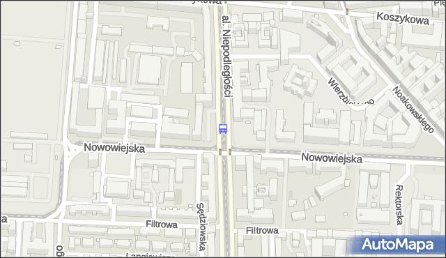 Przystanek Nowowiejska 03. ZTM Warszawa - Warszawa (id 709003) na mapie Targeo