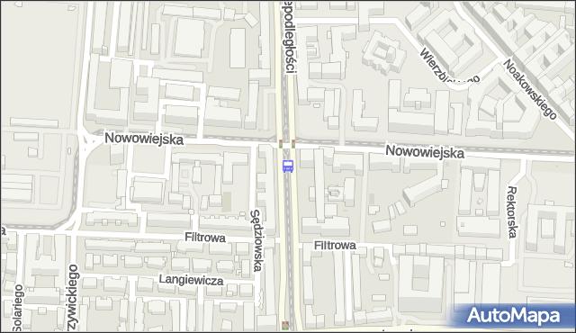 Przystanek Nowowiejska 04. ZTM Warszawa - Warszawa (id 709004) na mapie Targeo