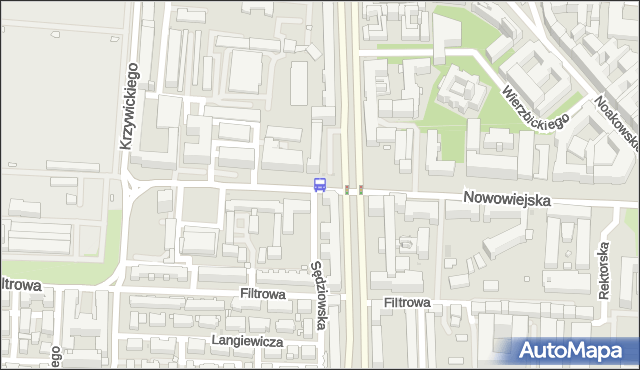 Przystanek Nowowiejska 05. ZTM Warszawa - Warszawa (id 709005) na mapie Targeo