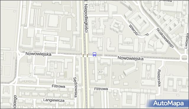 Przystanek Nowowiejska 06. ZTM Warszawa - Warszawa (id 709006) na mapie Targeo
