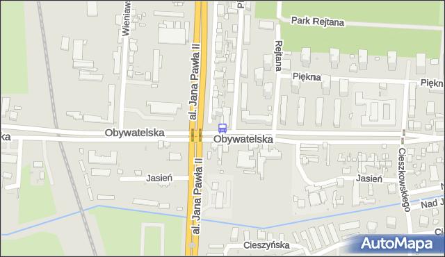 Przystanek Obywatelska - Jana Pawła II. MPKLodz - Łódź (id 652) na mapie Targeo