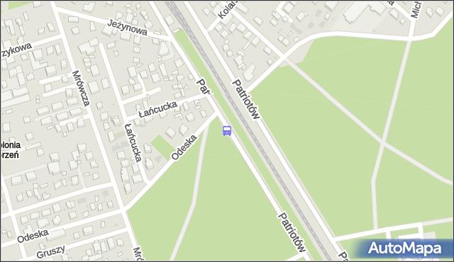 Przystanek Odeska 01. ZTM Warszawa - Warszawa (id 204001) na mapie Targeo