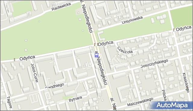 Przystanek Odyńca 01. ZTM Warszawa - Warszawa (id 323101) na mapie Targeo