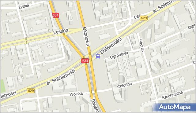 Przystanek Okopowa 01. ZTM Warszawa - Warszawa (id 500301) na mapie Targeo