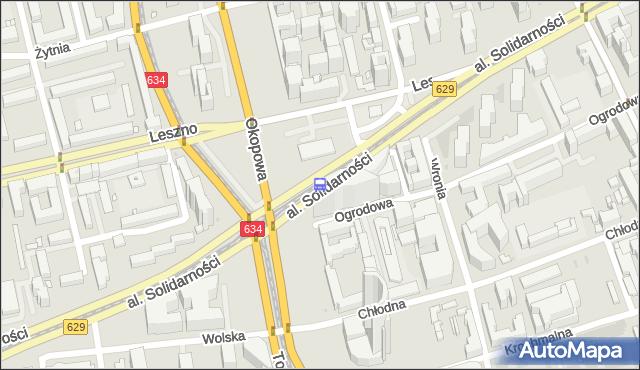 Przystanek Okopowa 03. ZTM Warszawa - Warszawa (id 500303) na mapie Targeo