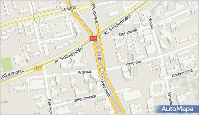 Przystanek Okopowa 07. ZTM Warszawa - Warszawa (id 500307) na mapie Targeo