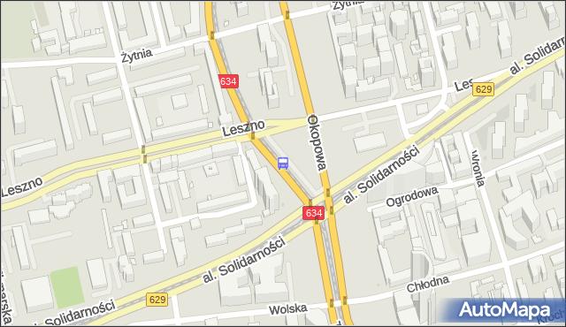 Przystanek Okopowa 08. ZTM Warszawa - Warszawa (id 500308) na mapie Targeo
