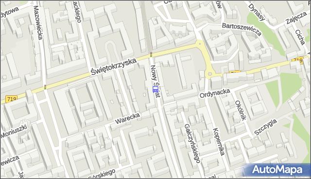 Przystanek Ordynacka 01. ZTM Warszawa - Warszawa (id 704901) na mapie Targeo