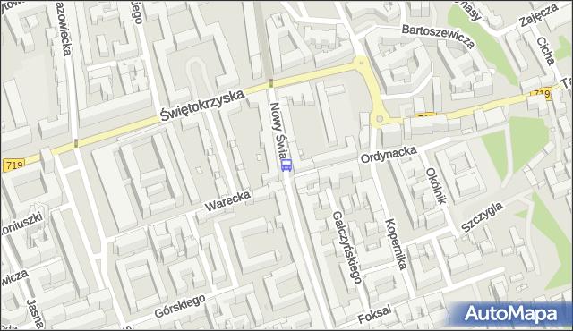 Przystanek Ordynacka 02. ZTM Warszawa - Warszawa (id 704902) na mapie Targeo