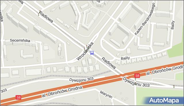 Przystanek Orlich Gniazd 06. ZTM Warszawa - Warszawa (id 510606) na mapie Targeo