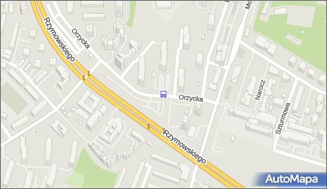 Przystanek Orzycka 01. ZTM Warszawa - Warszawa (id 324601) na mapie Targeo