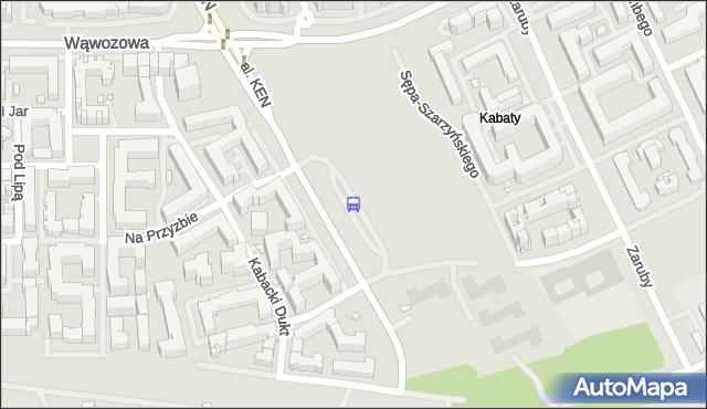 Przystanek os.Kabaty 03. ZTM Warszawa - Warszawa (id 340003) na mapie Targeo