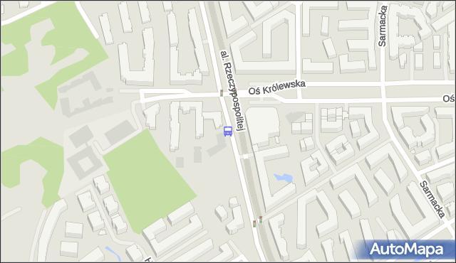 Przystanek Oś Królewska 01. ZTM Warszawa - Warszawa (id 335301) na mapie Targeo