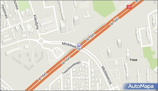 Przystanek os.Potok 02. ZTM Warszawa - Warszawa (id 613302) na mapie Targeo