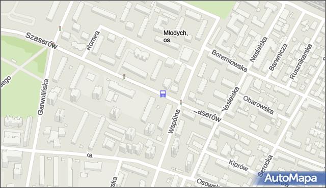 Przystanek Osiedle Młodych 01. ZTM Warszawa - Warszawa (id 211001) na mapie Targeo